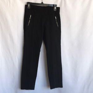 Joe Benbasset black stretch pants with zippers, M